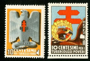 Italy Stamps MNH 2 early TB labels
