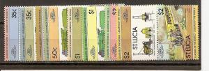 St. Lucia 617-624 MNH