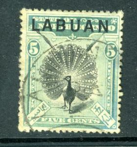LABUAN #76 POSTALLY USED - Nice  (MINT Hinged)  cv$67.50