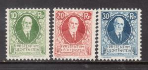 Liechtenstein #B1 - #B3 Mint Never Hinged Set
