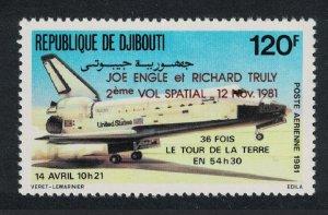 Djibouti Second Flight of Space Shuttle Columbia 1981 MNH SG#830