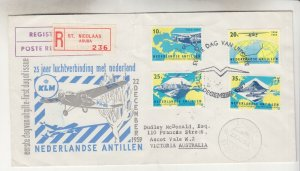 SURINAME, 1959 KLM 25th. Anniversary set of 4 on Illustrated First day cover.