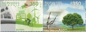 ARMENIA 2016 EUROPA CEPT THINK GREEN SET MNH R2021174BB