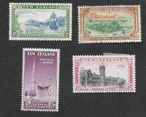 New Zealand Scott #269-272 Centennial Of Otago complete set (1948) Mixed Cond.