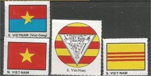 VIETNAM. mint, Flag and Coat of Arms (no gum)