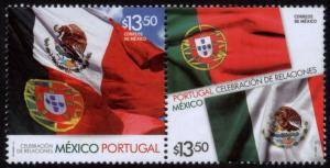 MEXICO 2877a, (Pair) Mexico - Portugal DIPL. RELS. Joint Issue. MINT, NH. VF.