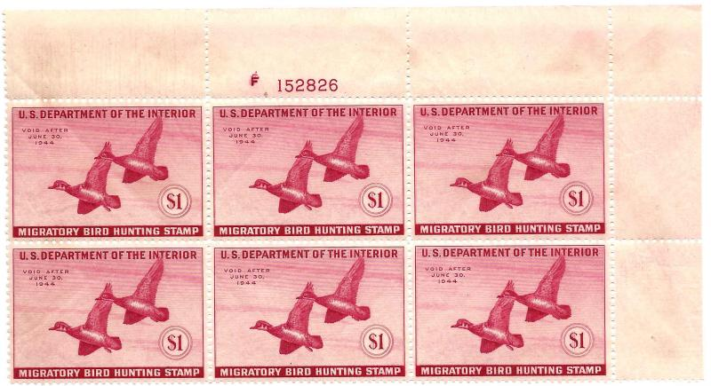 RW10 Mint,OG,NH... Plate Block of 6... SCV $700.00