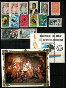 Chad - Small collection of Mint NH sets and S/S (Catalog Value $46.15) [TC571]