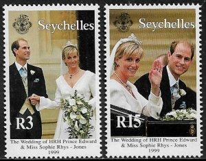 Seychelles #809-10 MNH Set - Royal Wedding
