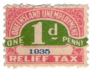 (I.B) Australia - Queensland Revenue : Unemployment Relief Tax 1d