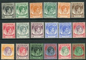 STRAITS SETTLEMENTS-1927-41  A lightly mounted mint set to $5 Sg 279-298