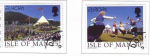 Isle of Man Sc 786-7 1998 Europa stamp set used