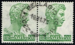 Italy #690b St. George by Donatello Pair; Used (2Stars)