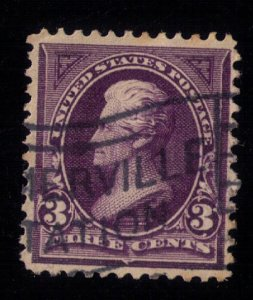 US Sc #268 Used W/Fancy Station Cancellation Very Fine