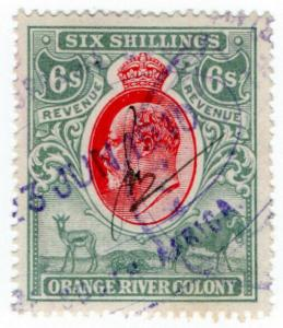 (I.B) Orange River Colony Revenue : Duty Stamp 6/-