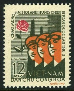 Viet Nam 208,MNH.Michel 214. National Heroes of Labor Congress.Rose.