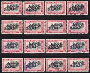 Costa Rica Scott C189 F to VF used x 16 stamps. All fault free.
