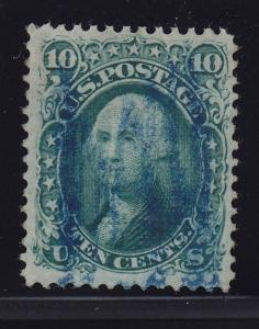 96 VF used neat blue cancel with nice color cv $ 275 ! see pic !