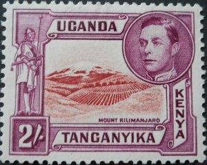 Kenya/Uganda/Tanganyika 1944 GVI 2/- SG 146b mint