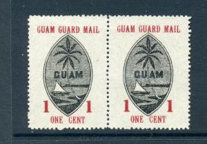 Guam Guard Mail Scott #M3 Unused Pair of Stamps (Guam #M3-3)