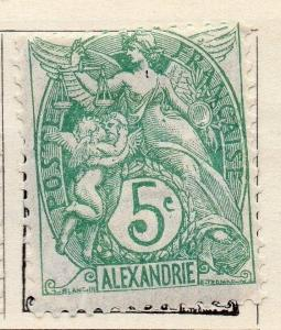 Alexandria 1902-13 Early Issue Fine Mint Hinged 5c. 054464