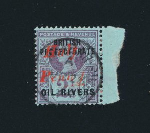 NIGER COMPANY -NIGERIA 1893, ½d on 2½d T8, VF USED SG#25 CAT£650 (SEE BELOW)
