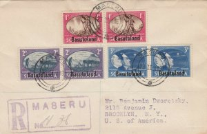 Basutoland Overprints Used on a Registered Cover 1946