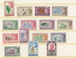 CAYMAN ISLANDS # 153-167 VF-MNH QE11 VARIOUS DESIGNS CAT VALUE $96+