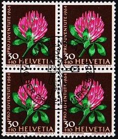 Switzerland. 1964 30c+10c(Block of 4). S.G.J205 Fine Used