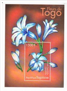 STAMP STATION PERTH Togo #1930 YTBF332 MNH S/S CV$8 Regional Flowers