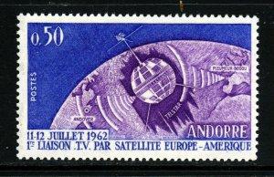 ANDORRA (French) 1962 50c. First Transatlantic TV Link SG F185 MNH