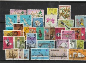 singapore used stamps  Ref 9467