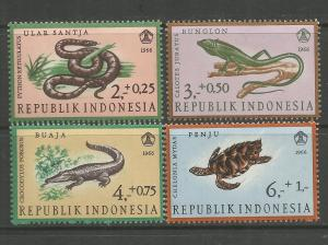 INDONESIA, B203-B206, H, REPTILES