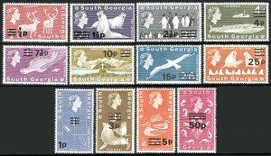 South Georgia 17b-30b, Wmk. 373, MNH. Definitive. Reindeer,Penguins,Seals, 1977