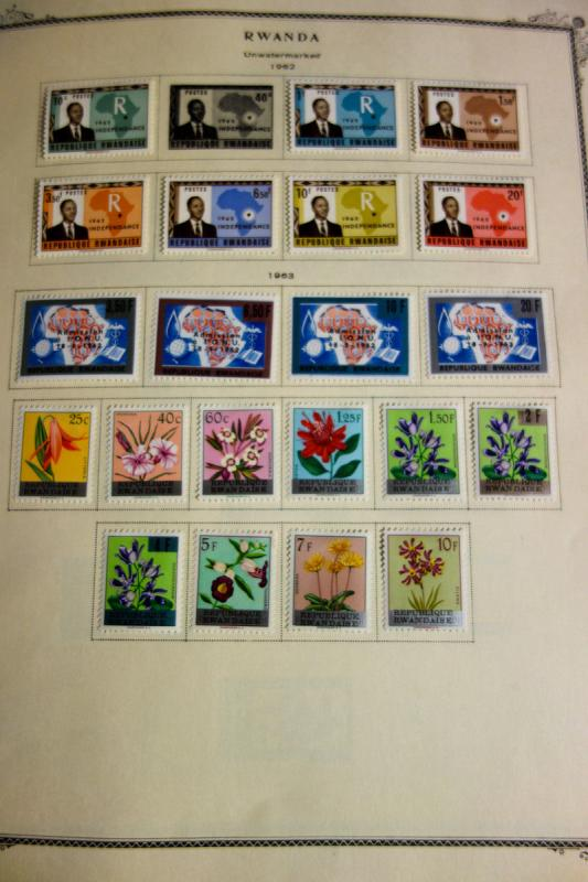 Rwanda Loaded mint Stamp Collection 1962-1970's many popular topics