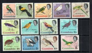 Gambia QEII 1963 Birds fine used set #193-205 WS13846