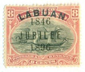 LABUAN #71, Mint Hinged, Scott $57.50