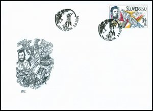 Slovakia 1994 FDC 41 Over the Tatras Lightning Breaks...