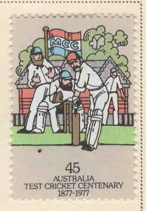 AUSTRALIA Scott 666 Cricket stamp MH*