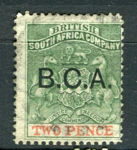 NYASALAND; 1891 early classic B.C.A. Optd issue fine used 2d. value