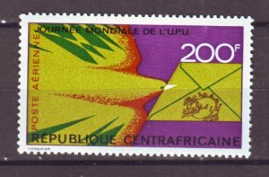 J22377 Jlstamps 1973 central african  set of 1 mnh #c114 upu
