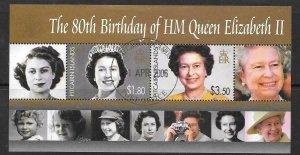 PITCAIRN ISLANDS SGMS715 2006 80th BIRTHDAY OF QUEEN ELIZABETH II FINE USED