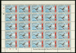 CAYMAN ISLANDS #210 Grand Thrush British Commonwealth Sheet Stamps Postage MNH