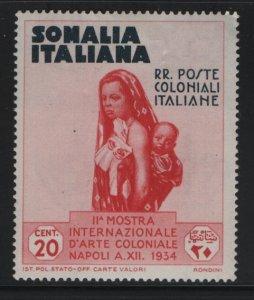 SOMALIA, 166, HINGED, 1934, MOTHER AND CHILD