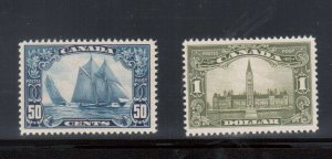 Canada #158 - #159 Very Fine Never Hinged High Value Duo