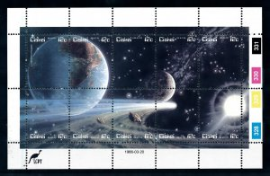 [101886] Ciskei 1986 Space travel weltraum Halley comet Sheet MNH