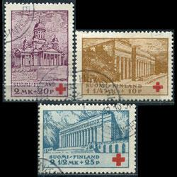 FINLAND 1932 - Scott# B9-11 Buildings-Library Set of 3 Used