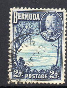 BERMUDA #120  1936  2 1/2p  KING GEORGE VI & GRAPE BAY     F-VF USED