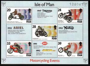 Isle of Man #566a MNH S/S CV$4.75 Motorcycles Colley Duke Beta Zero Parkinson