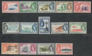 $Cayman Islands Sc#135-148 M/H-LH/Vf, short set, Cv. $87
